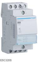 Контактор бесшумный модульный ESC326S Hager 25А 230V 3 NC, фото 1