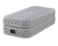 Надувная односпальная кровать со встроенным электрическим насосом Intex 64488 Prime Comfort (99-191-51 см)