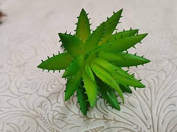 Штучна зелень. Сукулент колючка, теракотово-зелений. 8 см