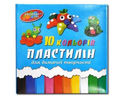 "Пластилин 10 цветов, 215гр ""Колорит"""