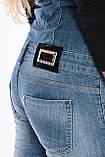 Женский джинзовый комбинезон OMAT 9663 синий, фото 7