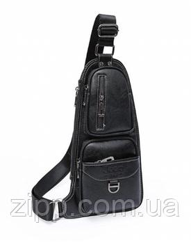 Сумка рюкзак через плечо мужская Jeep Bags 777 Черная
