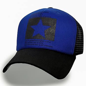 Модная летняя кепка Street Star ✫ The Beatles (зелено-черная) Тракер звезда черно-синий