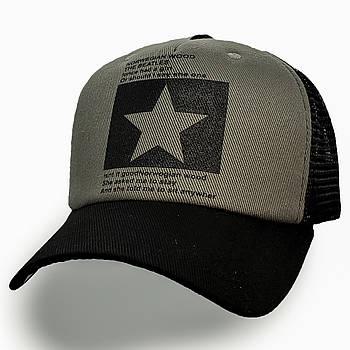 Модная летняя кепка Street Star ✫ The Beatles (зелено-черная) Тракер звезда черно-серый