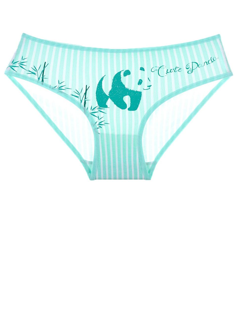 Трусы для девочки с рисунком панды Зеленый 80-86 (1-1,5 года) Donella Турция