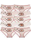 Трусы для девочек с рисунком собачки Бежевый 80-86 (1-1,5 года) Donella Турция, фото 3
