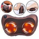 Роликовая массажная подушка с инфракрасным прогревом Massage Pillow, фото 5