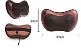 Роликовая массажная подушка с инфракрасным прогревом Massage Pillow, фото 7