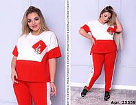 Спортивный костюм для стильных модниц - Размеры:48- 50; 52-54; РОЗНИЦА +30грн, фото 1