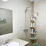 Угловая полка для ванной Multi Corner Shelf GY-188, фото 6