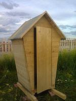 Туалет Теремок 0.8х1.2 м.  Комплект без сборки с сиденьем
