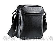 Мужская  черная сумка через плече  (31012 )