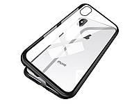 Магнитный чехол для iPhone 8 из закаленного стекла Без переднего стекла Черный