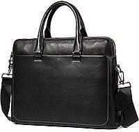 Деловая кожаная сумка под документы А4 и ноутбук Tiding Bag NM17-9069-5A, фото 1