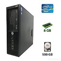 HP Z210 Workstation DT / Intel Xeon E3-1225 (4 ядра по 3.1 - 3.4 GHz) / 8 GB DDR / 500 GB HDD / DVD-RW / Card Reader (SD, SDHC, SDXC)