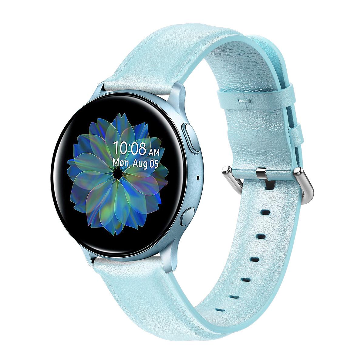 Ремешок кожаный 20мм BeWatch для Samsung Active | Active 2 | Galaxy watch 42mm L Мятный