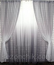 Модный двухцветный комплект штор фото