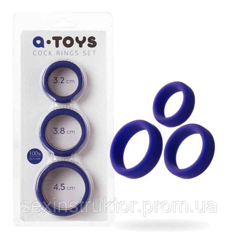 A-TOYS, Penis Cock Ring, Silicone, Purple, O4.5 / 3.8 / 3.2 cm
