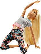 Уценка! Повреждена упаковка.КуклаBarbie Йога Безграничные движения Шарнирная блондинка, фото 6