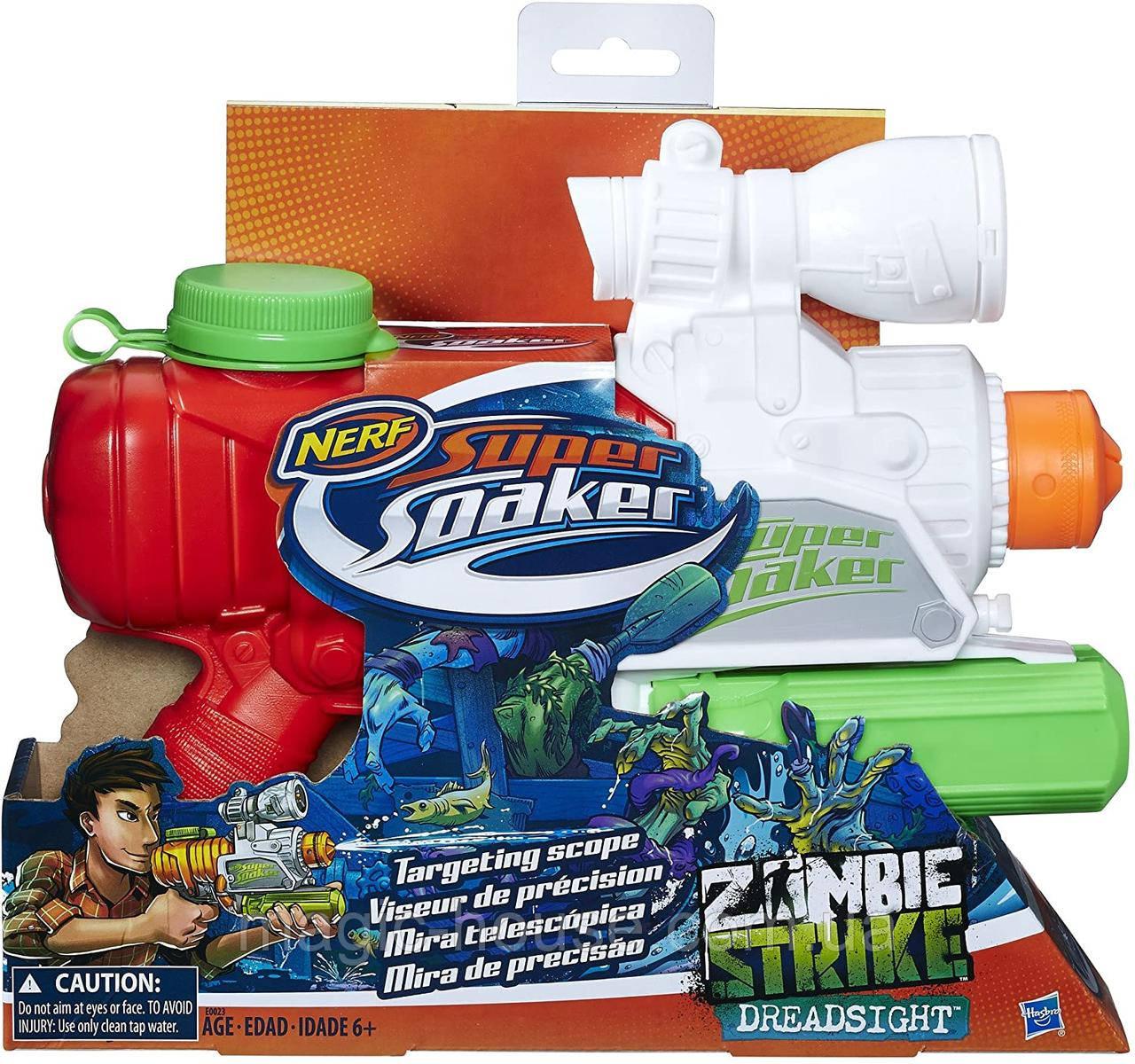 Водный Бластер Нерф Зомби Страйк Дредсайт Super Soaker Zombie Strike Dreadsight