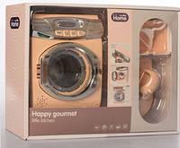 Детская стиральная машинка с утюгом и гладильной доской (A1001-3-4(Beige))