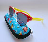 Детские очки- Kids - polarized . Унисекс в стиле Ray Ban .  Комплект