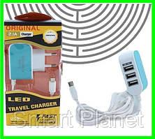 Зарядка Для Телефона на 3 USB Адаптер Зарядное Устройство