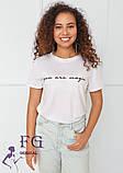 """Модная белая футболка с надписью """"Magic"""", фото 3"""