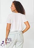 """Модная белая футболка с надписью """"Magic"""", фото 5"""