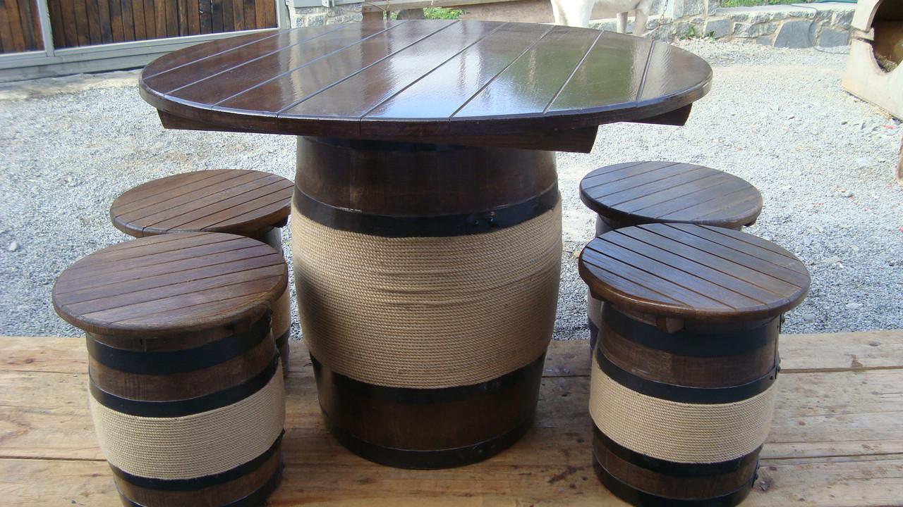Стол и 4 стула дубовые