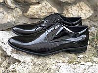 Лакированные черные туфли Pan