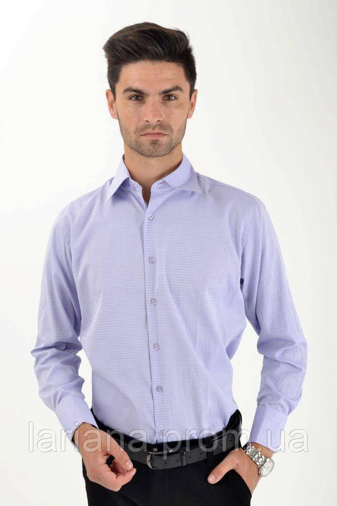 Рубашка 37162-3 цвет Сиреневый