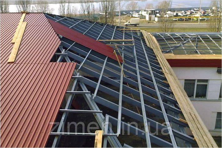 Покрівля дахів профлистом