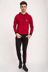 Спорт костюм мужской 119R772 цвет Черно-бордовый