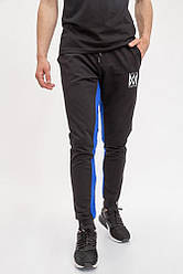 Спорт брюки мужские 119R40 цвет Черно-синий