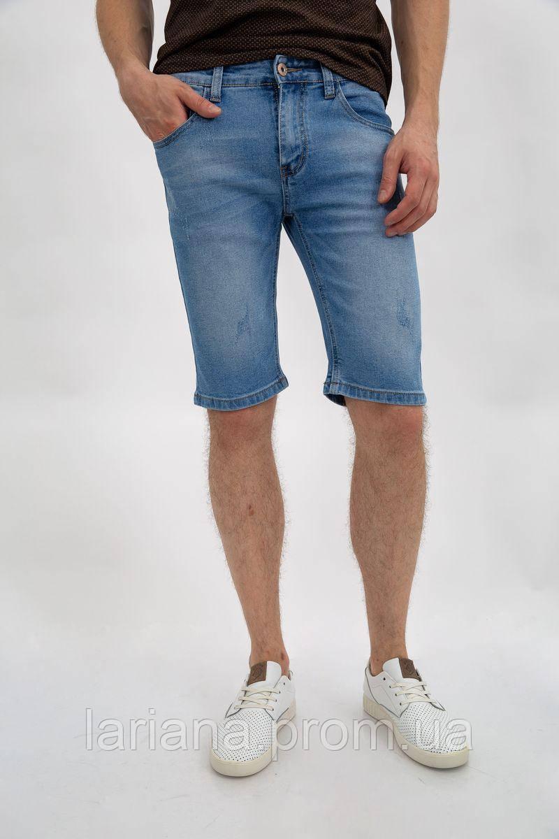 Джинсовые шорты муж 144R906-1Y цвет Голубой
