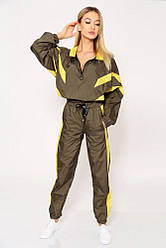 Спорт костюм женский 103R8154 цвет Зелено-желтый