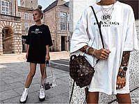 Модное женское платье-футболка Balenciaga