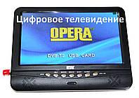 "Портативный съемный телевизор 9,5"" Opera 901 цифровое телевидение Т2"