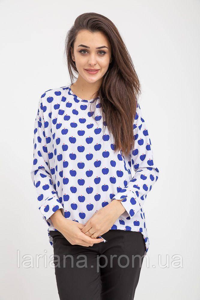 Блузка женская 115R286D цвет Бело-синий
