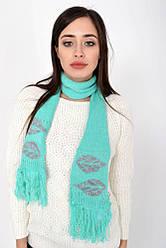 Шарф женский 103R067 цвет Изумрудно-серый