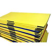 Борцовский Мат Татами для спортивных тренировок всех видов единоборств из ППЭ со съемным чехлом 200х100х5 см