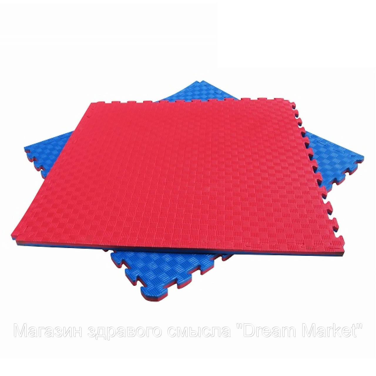 Мат Татамі Ластівчин хвіст м'яке покриття-пазл для спортивних залів, майданчиків, до 100 кг, з EVA 100х100х2.5 см