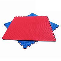 Мат Татами Ласточкин хвост - мягкое покрытие-пазл для спортивных залов площадок, до 100 кг, из EVA 100х100х2.5