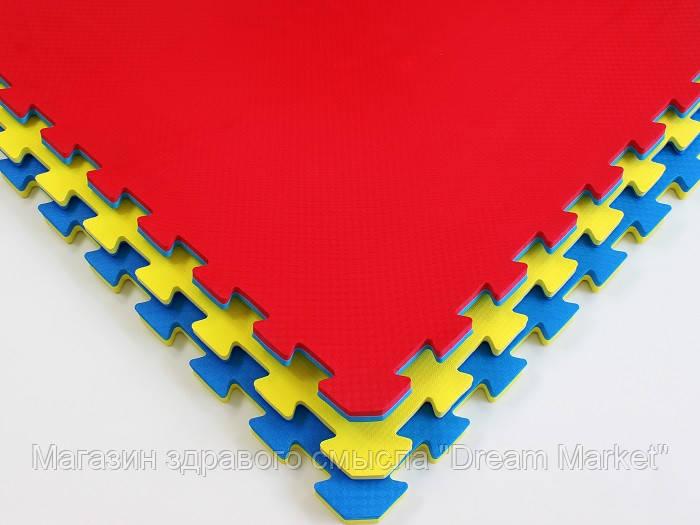 Мат Татами Ласточкин хвост - мягкое покрытие-пазл для спортивных залов и игровых площадок из ЭВА 100х100х4 см