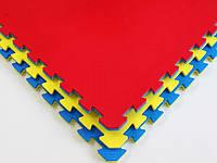 Мат Татами Ласточкин хвост - мягкое покрытие-пазл для спортивных залов и игровых площадок из ЭВА 100х100х4 см, фото 1