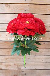 Искусственные цветы - Пион букет, 48 см