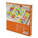 Развивающая игрушка для обучения для самых маленьких детей Часы и календарь Viga Toys, фото 3