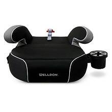 Автокресло бустер детское группа 3 от 22 до 36 кг для детей от 6 до 12 лет Welldon Penguin Pad черное