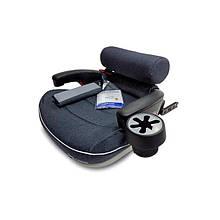 Автокресло бустер детское с системой крепления Isofix с подстаканником Welldon Travel Pad IsoFix графитовый